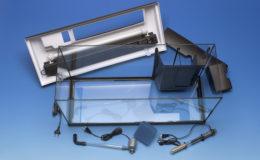 L'équipement d'un ensemble standard destiné à l'aquariophilie d'eau douce peut constituer une base que l'on adapte aux besoins d'un aquarium récifal. Photo : Aqua Press